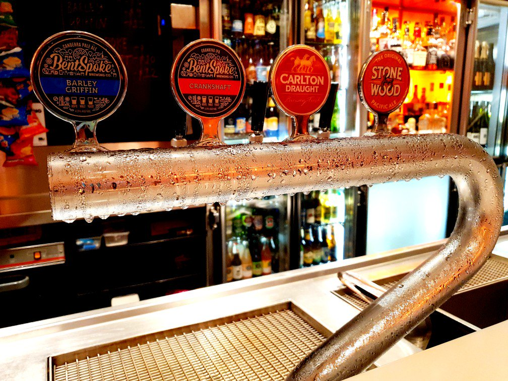 Beers available on tap at Barrd